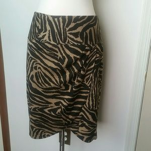 Lane Bryant leopard print skirt 16